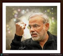 Narendra Modi - Digital Art | Aejaz Saiyed | Touchtalent