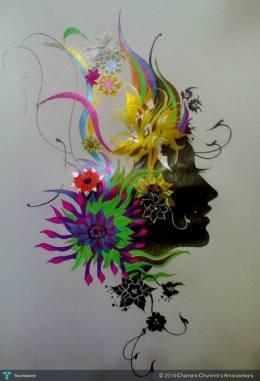 New Dot Art With Colour Mix 2.. - Sketching | Chamara Chulendra Amarasekara | Touchtalent