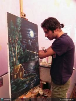 Night Scene Of Love - Painting | Dhaval Khatri | Touchtalent