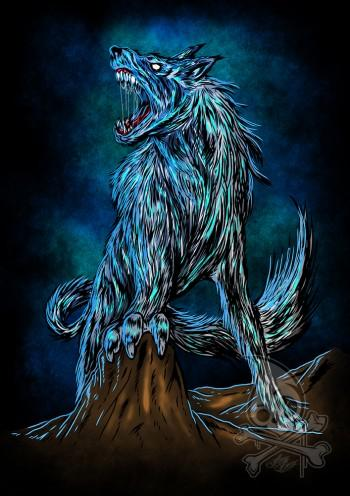 Norsemen Myth Series : Fenrir - Digital Art | Ang Bay | Touchtalent