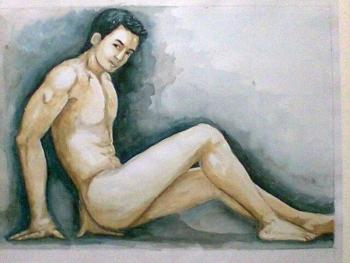 Nude #2 - Painting | Jay Dalupang | Touchtalent