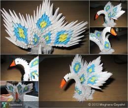Origami MINI Peacock :) - 3D Art | Meghana Gayathri | Touchtalent