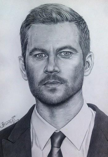 Paul Walker - Sketching | Jaspreet Sîðħų | Touchtalent