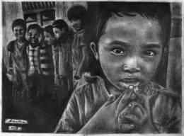 Potrait - graphite pencils