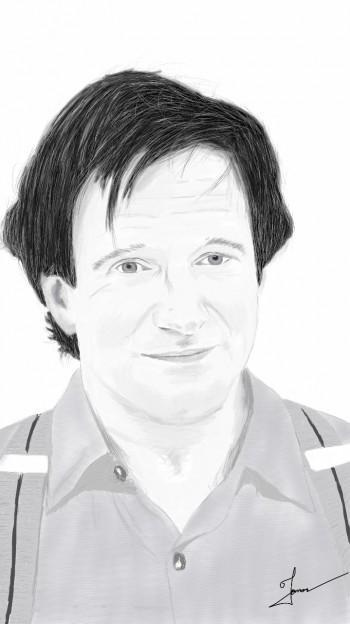 RIP Robin Williams :( Digital Drawing On My Note 3 Neo - Digital Art   Jomon Joseph   Touchtalent