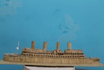 RMS Titanic Made From Matchsticks - Crafts | Deepak Jothi | Touchtalent