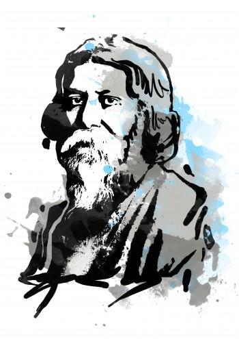 Rabindranath Tagore - Digital Art | Touchtalent .com | Touchtalent