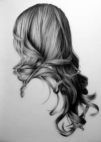 Realistic Hair Drawing - Digital Art | Dessin Myriam | Touchtalent