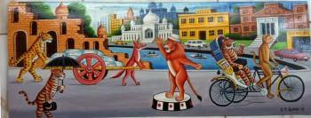Rickshaw Paint-03 - Painting | S M Samsu | Touchtalent