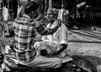 Roadside Barber - Photography | Kunal Khurana | Touchtalent
