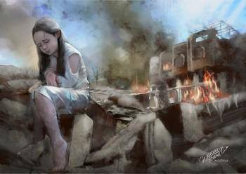 SAD LITTLE GIRL - Painting | Wawan Teamlo | Touchtalent