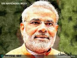 SRI NARENDRA MODI-CONGRATS - Digital Art | Chandra Budhiraju | Touchtalent