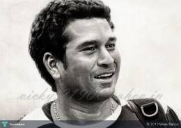 Sachin 'God Of Cricket' Tendulkar - Sketching | Vikas Sahoo | Touchtalent