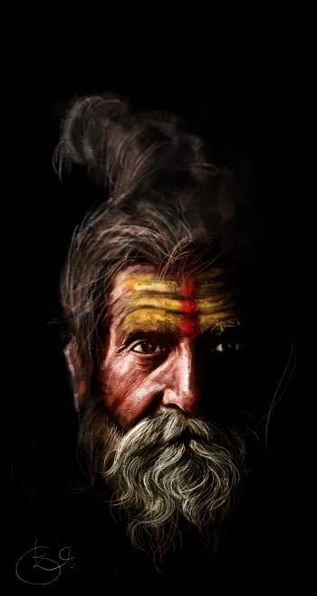 Sadhu - Digital Art | Kiran Kumar | Touchtalent