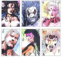 Sample Sketch Card Drawings