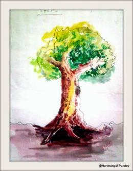 Save Tree! Save Earth! - Painting | Harimangal Pandey | Touchtalent