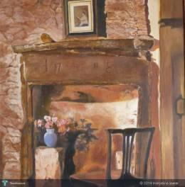 Scottish Fireplace - Painting | Marceline Lawler | Touchtalent