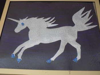 Silver Unicorn-Upcycled - Crafts | Maya Rodriguez | Touchtalent