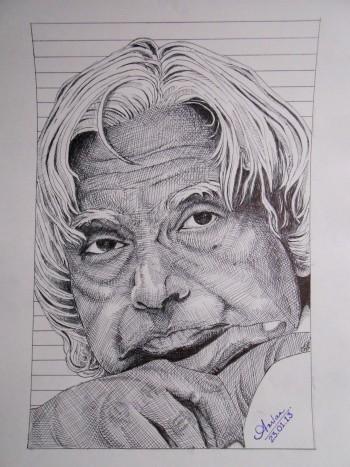 Sir Kalam - Sketching | Amlan Mishra | Touchtalent