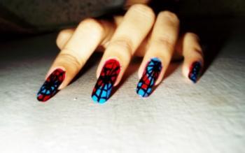 Spidey Nails - Design | Samiha Shameem | Touchtalent