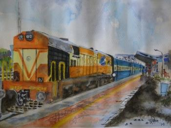 Stopover - Painting | Sudip Mitra | Touchtalent