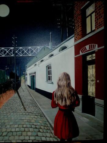Studie Werk Naar Een Werk Van Paul Delvaux, Geschilderd Door GeertC. - Painting | Geert Coucke | Touchtalent