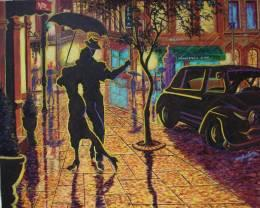 TANGO IN THE RAIN - Painting | Bobby Wylde | Touchtalent