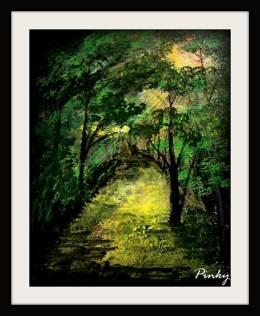 The Road Less Traveled - Painting | Pinky Punia | Touchtalent