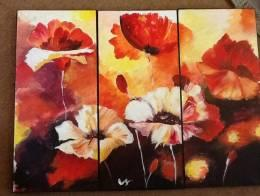 Three piece painting