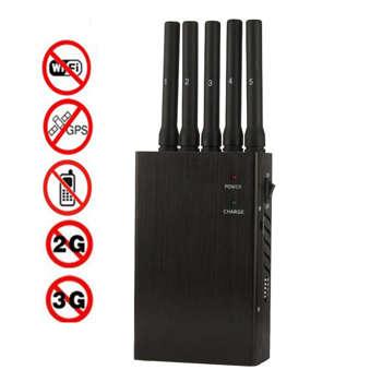 Tragbare 5-Band-Hochleistungs Handy-Störsender - Design | Lea Blau | Touchtalent