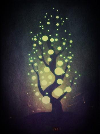 Tree Of Light - Digital Art | Anuradha Mandapaka | Touchtalent
