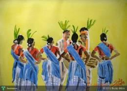 Tribal Dance - Painting | Sudip Mitra | Touchtalent