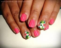 Tropical flowers Nails --- Inspired by Robin Moses