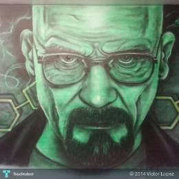 Walter White - Painting | Victor Lopez | Touchtalent