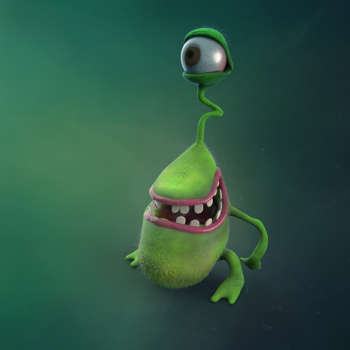 Weird Alien - 3D Art | Sasha Krieger Ristic | Touchtalent