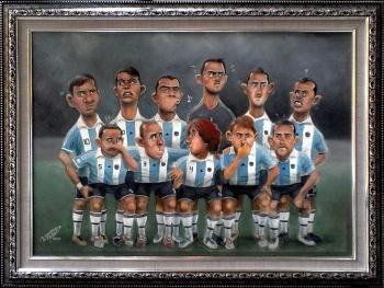 World Cup -Argentina Team - Painting | Wawan Teamlo | Touchtalent