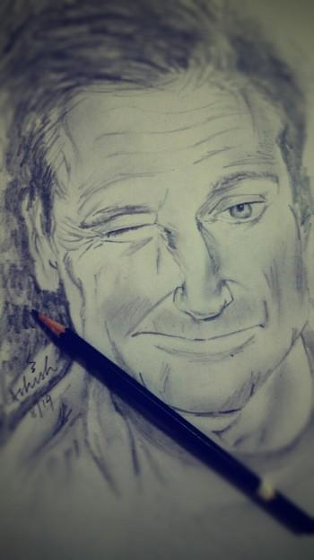 You Are Only Given A Little Spark Of Madness. You Must Not Loose It-robin Williams - Sketching | Ashish Mishra | Touchtalent