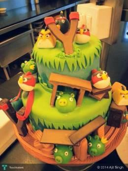Angry Bird Cake By Me - Design | Ajit Singh | Touchtalent