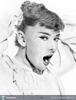 Audrey Hepburn Drawing - Design | Dessin Myriam | Touchtalent