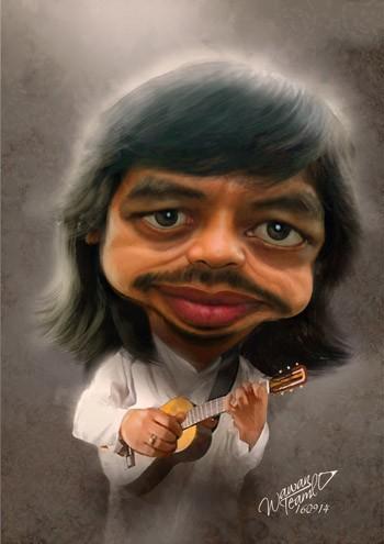 Bujana Guitarist - Painting | Wawan Teamlo | Touchtalent