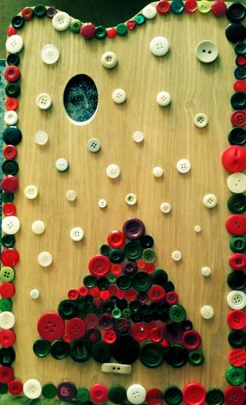 Button Christmas Tree On A Pallet - Crafts | Kira Lucas | Touchtalent