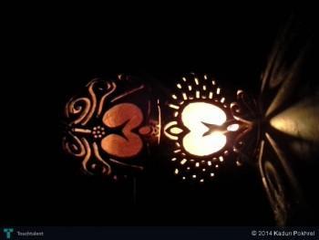 Carving On Coconut ( Lantern) - Crafts | Kadun Pokhrel | Touchtalent