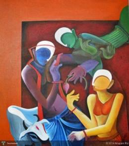 Conversation-2 - Painting | Anupam Pal | Touchtalent