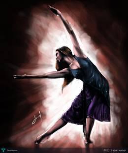 Dancing Girl - Digital Art | Sarat Kumar | Touchtalent
