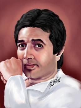 digital portrait......Rajesh Khanna