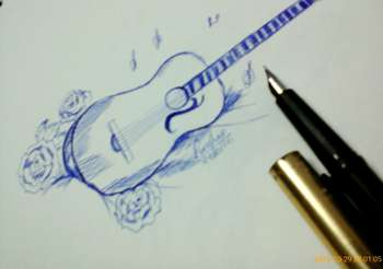 guitar sketching harsha puthusserry touchtalent