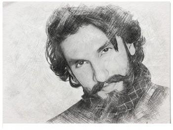 Heart Throb -ranveer Singh - Sketching | Gayatri Sriadhibhatla | Touchtalent