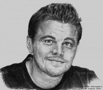 Leonado Dicaprio - Sketching | Dilshad Amaraweera | Touchtalent