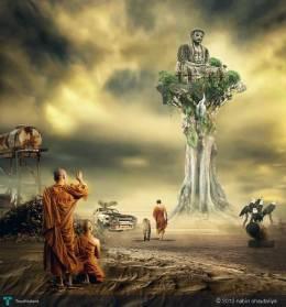 Lord Buddha - Digital Art | Nabin Chautariya | Touchtalent