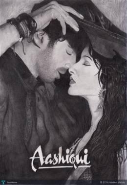 Meri Aashiqui Ab Tum Hi Ho - Sketching   Naveen Chinnu   Touchtalent